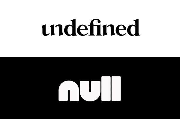 undefined vs. null