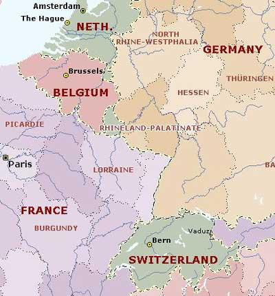 图1 当代欧洲政区图